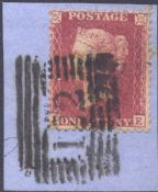 1857 1d Red SG40 Plate 43 'JE'